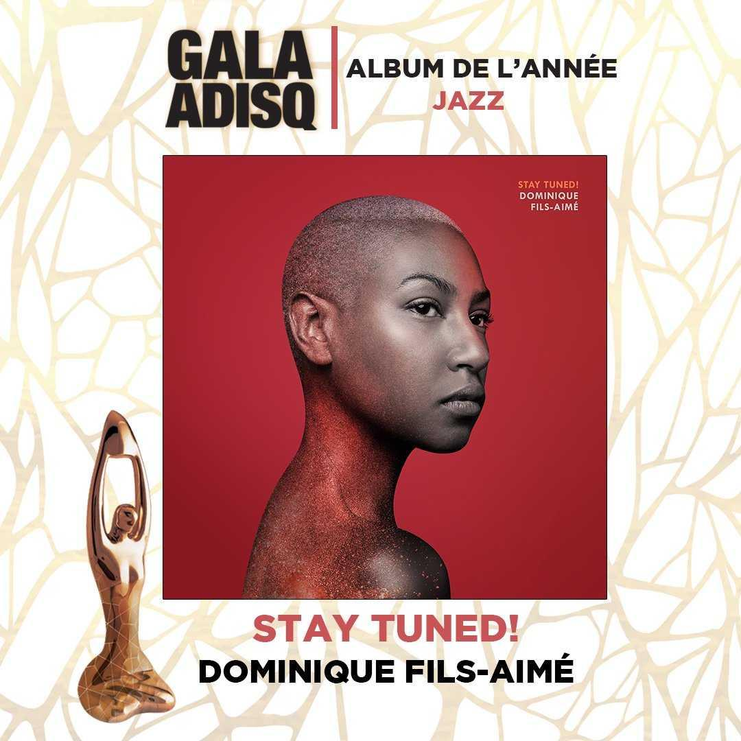 Best album jazz 2019 Dominique Fils Aime ADISQ